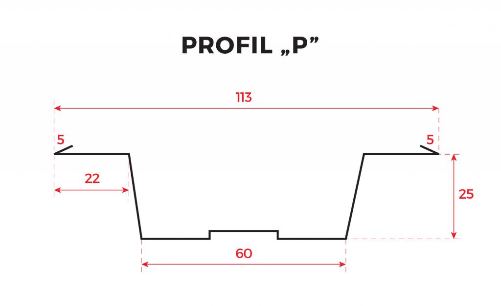 sztachetka profil p rysunek